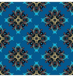 Blue abstract seamless tiled design vector
