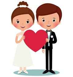 Groom and bride vector image
