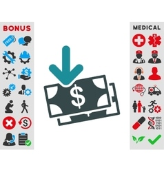 Money income icon vector