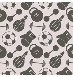 Seamless pattern with sports equipment vector