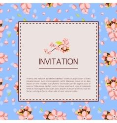 Beautiful invitation or greeting card template vector