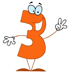Funny cartoon numbers-3 vector