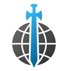 Global guard gradient icon vector