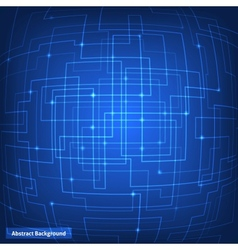 Virtual circuit technology background vector image