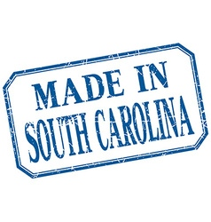 South carolina - made in blue vintage isolated vector