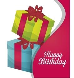 Happy birthday gift isolated icon design vector