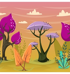 Beautiful trees in magical forest vector