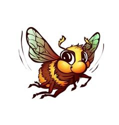 bumblebee in cartoon style vector image vector image