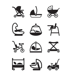 Children and baby accessories vector image