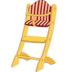 Childrens chair vector image