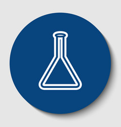 conical flask sign laboratory glass sign vector image vector image