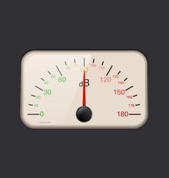 decibel meter vector image