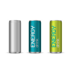 energy drink cans vector image vector image