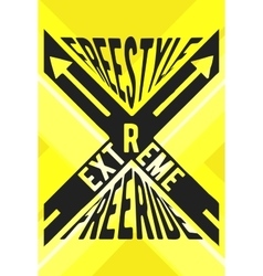 Extreme sport stamp vector image