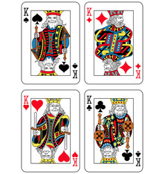 Four kings french inspiration vector