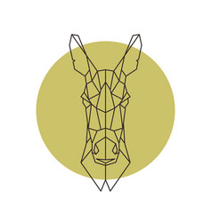 Geometric head of donkey vector