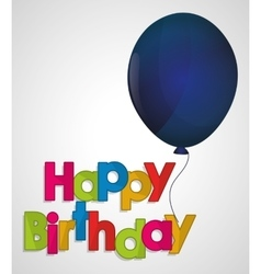happy birthday ed letter blue balloon vector image
