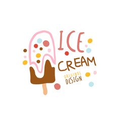 ice cream logo template original design element vector image vector image