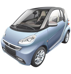 Modern subcompact car vector