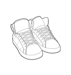 outline shoes vector image vector image