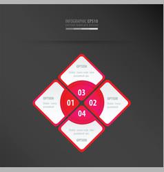 Rectangle presentation neon pink vector