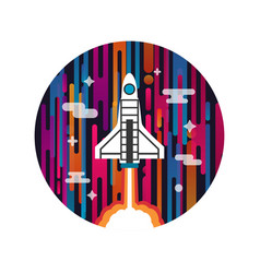 Rocket on space vector