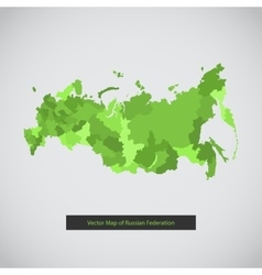 Russia map Green color vector image vector image