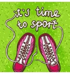 Sport gumshoes poster vector