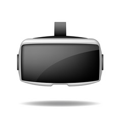 stereoscopic 3d vr headset front view vector image