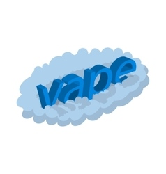 Vape word cloud icon cartoon style vector