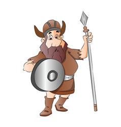 warrior with weapon vector image