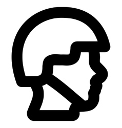 Soldier head stroke icon vector