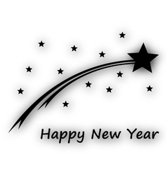 Happy new year on white vector