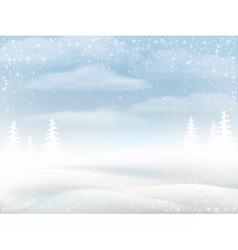 Winter snowy rural landscape vector