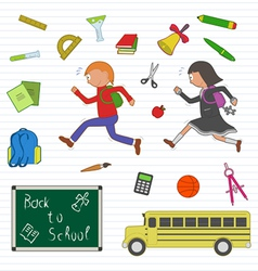 Back to school clipart set vector