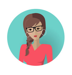 Young woman avatar icon vector