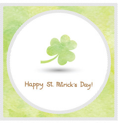 Happy saint patrick s day watercolor1 vector