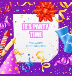 Party announcement invitation festiv template vector