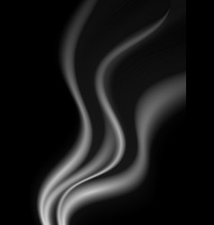 Dark abstract monochrome smoke waves background vector