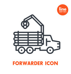 Forwarder line icon isolated over white vector