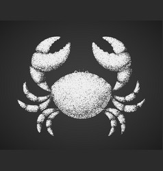 crab chalk drawing on blackboard vector image