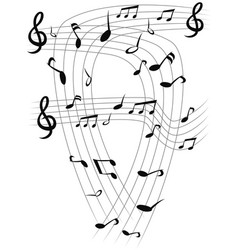 Music note sheets background vector