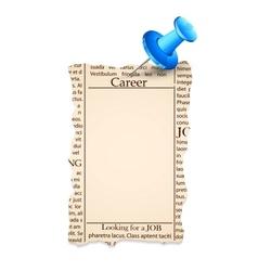 Job classified in newspaper vector