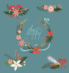 Holiday bouquets vector