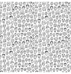 Faces - seamless background vector