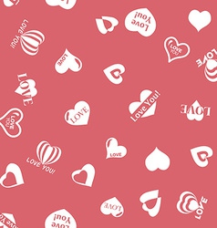 Heart pattern to Valentines Day Seamless texture vector image