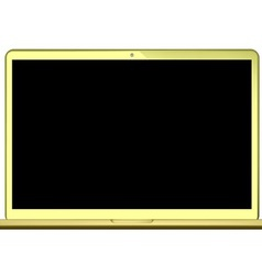 Laptop gold vector
