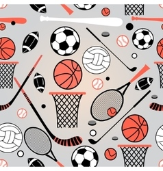 Pattern of sporting goods vector