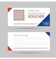 Template business voucher phytolamp vector
