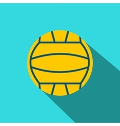Yellow volleyball ball flat icon vector